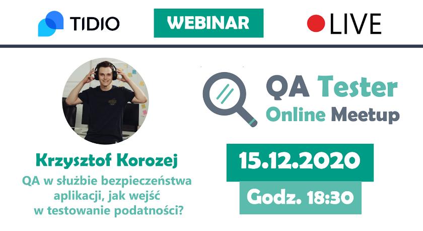 QA Tester Online Meetup #3 wydarzenie dla pasjonatów testów