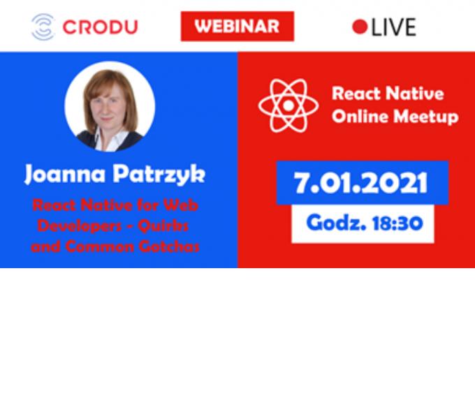 Wydarzenie dla twórców aplikacji mobilnych - React Native Online Meetup #2