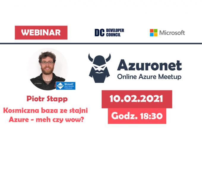 Architekci Microsoft Azure i programiści. NET na wspólnym wydarzeniu: Azuronet - Online Azure Meetup #18